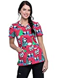 Cherokee Schlupfhemd Kasack Marry Pandas, mit Motiv Bedruckt,V-Ausschnitt (S)