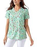 CLINIC DRESS Schlupfkasack Damen-Kasack 1/2 Arm All-Over-Print Schlupfhemd 60 Grad Wäsche Opal/bunt 42