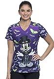 Cherokee Schlupfhemd Kasack mit Mickey Vamp Motiv Bedruckt,V-Ausschnitt, 100% Baumwolle (L)
