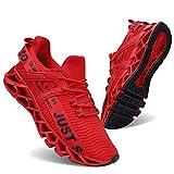 Vivay Damen Laufschuhe Walking Athletic fAr Frauen Casual Slip Fashion Sports Outdoor-Schuhe, Rot, 39 EU