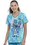 CHEROKEE Damen Kasack, Schlupfhemd mit Lilo und Stitch Aufdruck, Tooniforms (L)