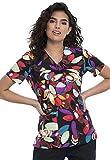 CHEROKEE Tooniforms V-Neck Kasack, Schlupfhemd mit Motiv 70er Blumen (3XL)