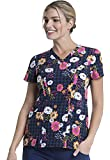Dickies V-Neck Kasack, Schlupfhemd mit Motiv Floral Throwback (M)